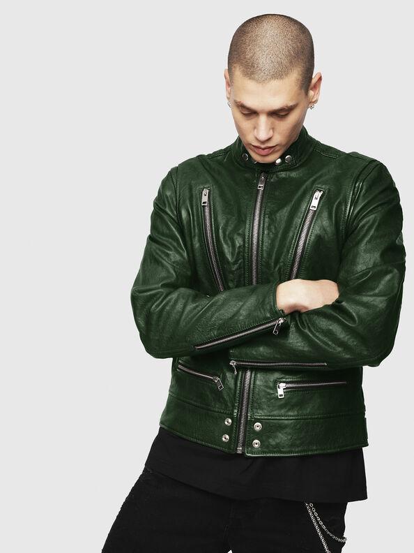 L-KOJI, Green - Leather jackets