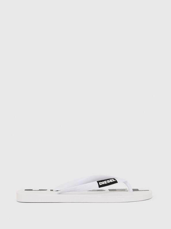 SA-BRIIAN W, White/Black - Slippers