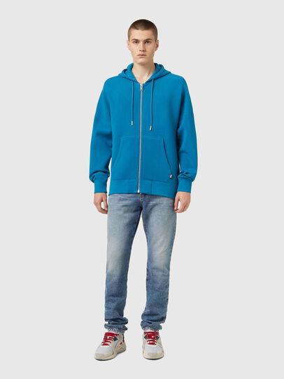 Diesel - S-KRIB-HOOD-ZIP, Blue - Sweaters - Image 4
