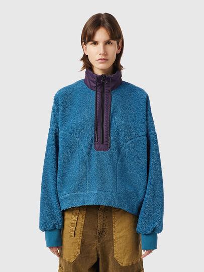 Diesel - F-CROPTED, Blue - Sweaters - Image 1