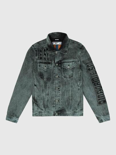 Diesel - US-NHILL-POP2, Black/Dark grey - Denim Jackets - Image 1