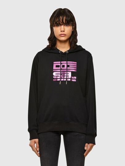 Diesel - F-ANG-HOOD-K23, Black - Sweaters - Image 1