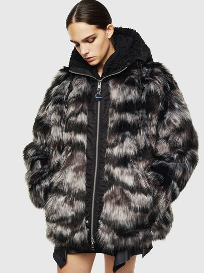 Diesel - L-ALYA, Black - Leather jackets - Image 1