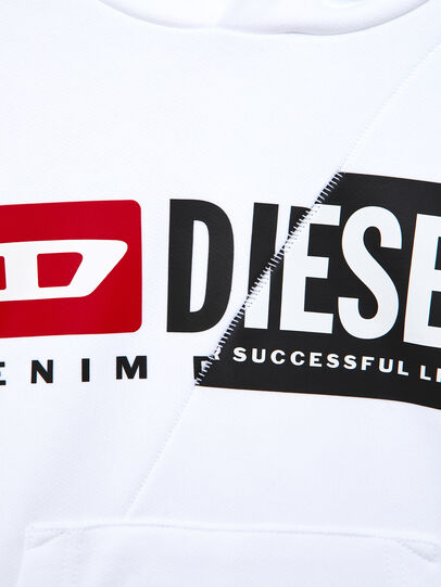 Diesel - SGIRKHOODCUTY OVER, White - Sweaters - Image 3