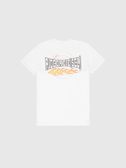 Diesel - US-T-WORKY-MOHI, White - T-Shirts - Image 2