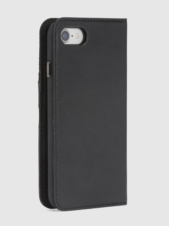 BLACK DENIM/STUD/ZIPPER IPHONE 8/7 FOLIO,  - Flip covers