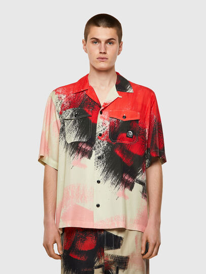 Diesel - S-WOLF-ALL, Red/White - Shirts - Image 1