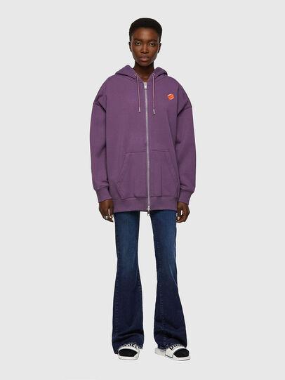 Diesel - F-GULLY-HOOD-ZIP, Dark Violet - Sweaters - Image 4
