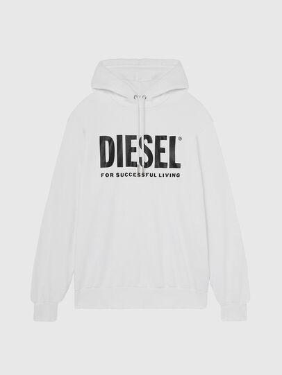 Diesel - S-GIR-HOOD-DIVISION-, White - Sweaters - Image 1