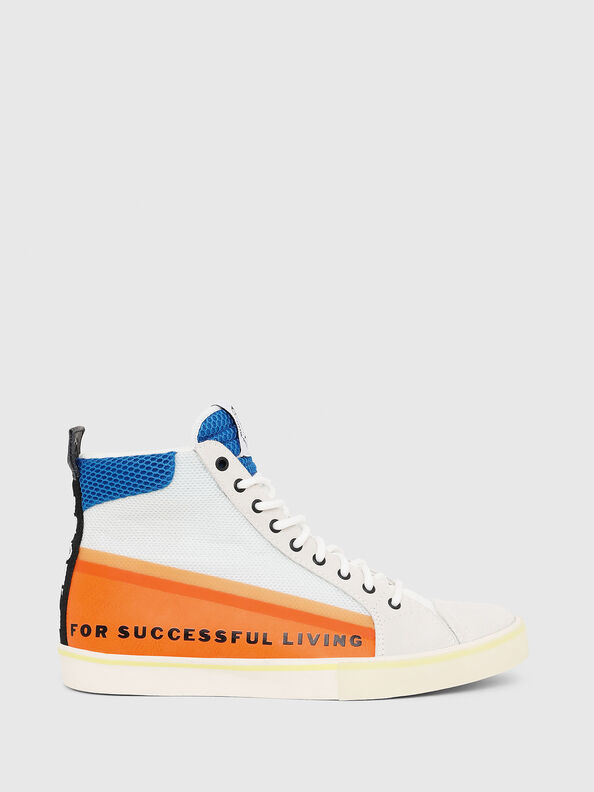 S-DVELOWS MID, White/Orange - Sneakers