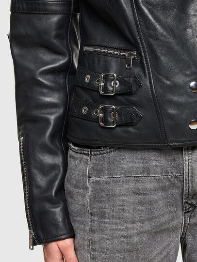 Diesel - L-IGE-NEW-A, Black - Leather jackets - Image 4