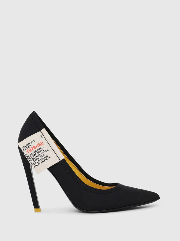 D-SLANTY HPD, Black/Yellow - Heels