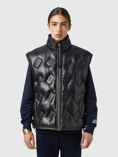 Diesel - L-KUR-THERMO, Black - Leather jackets - Image 1