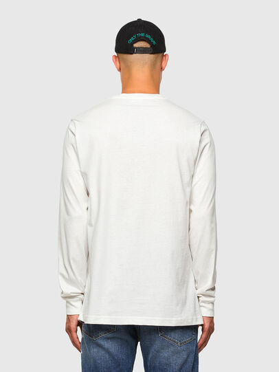 Diesel - T-JUST-LS-MOHI, White - T-Shirts - Image 5
