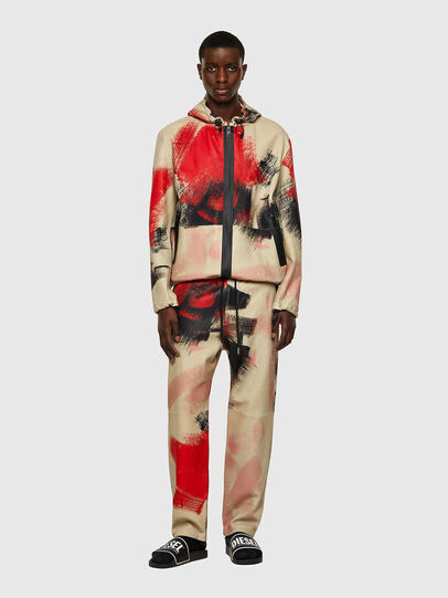 Diesel - J-GRANT-CMF, White/Red - Leather jackets - Image 6