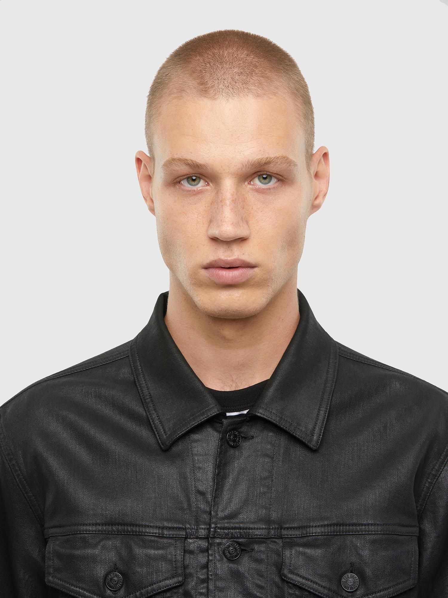 Diesel - NHILL-TW, Black - Denim Jackets - Image 3