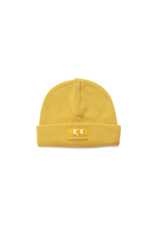 Diesel - K-XAU B, Yellow - Knit caps - Image 1