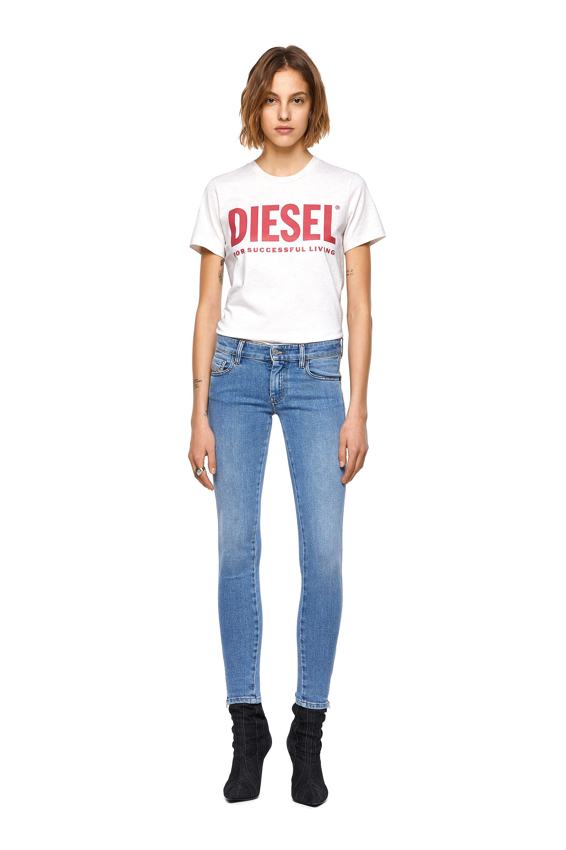 Diesel - Slandy Low 009ZY, Light Blue - Jeans - Image 5