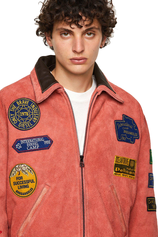 Diesel - DxD-3, Orange - Leather jackets - Image 3