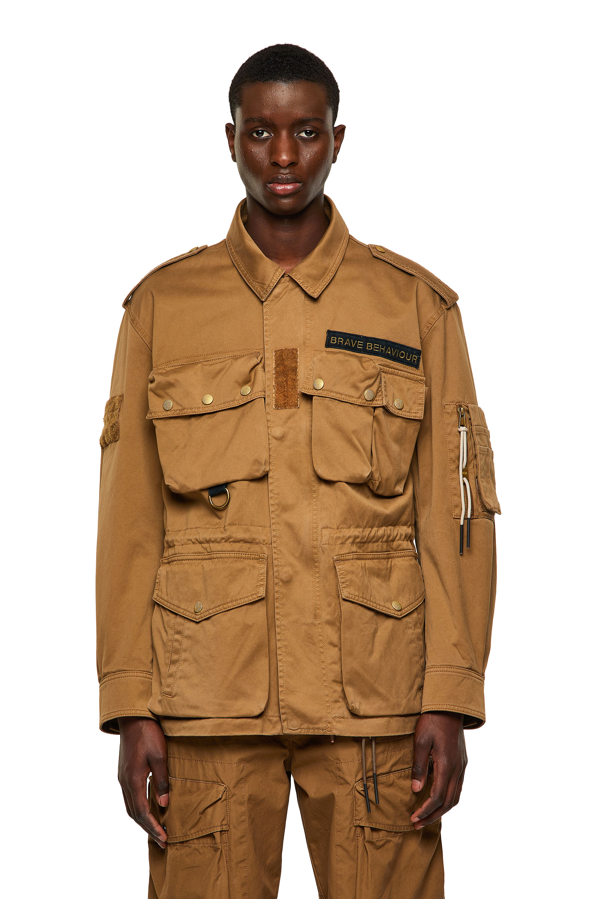 Diesel - J-LOYD, Brown - Jackets - Image 1