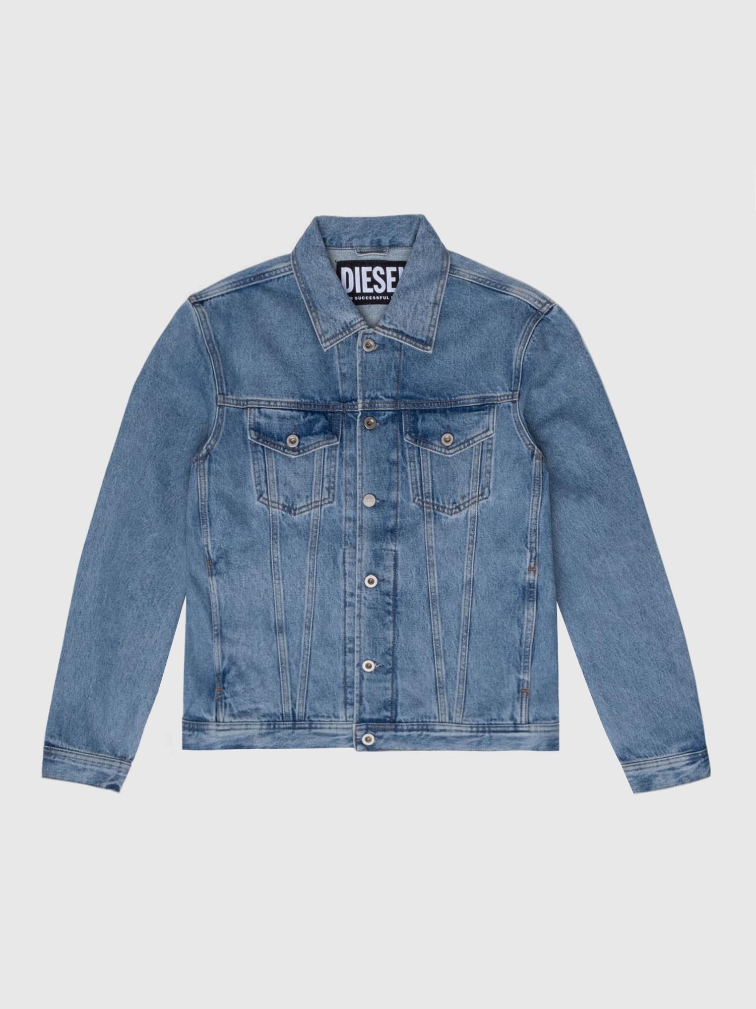 Diesel - US-NHILL-POP1, Medium blue - Denim Jackets - Image 1