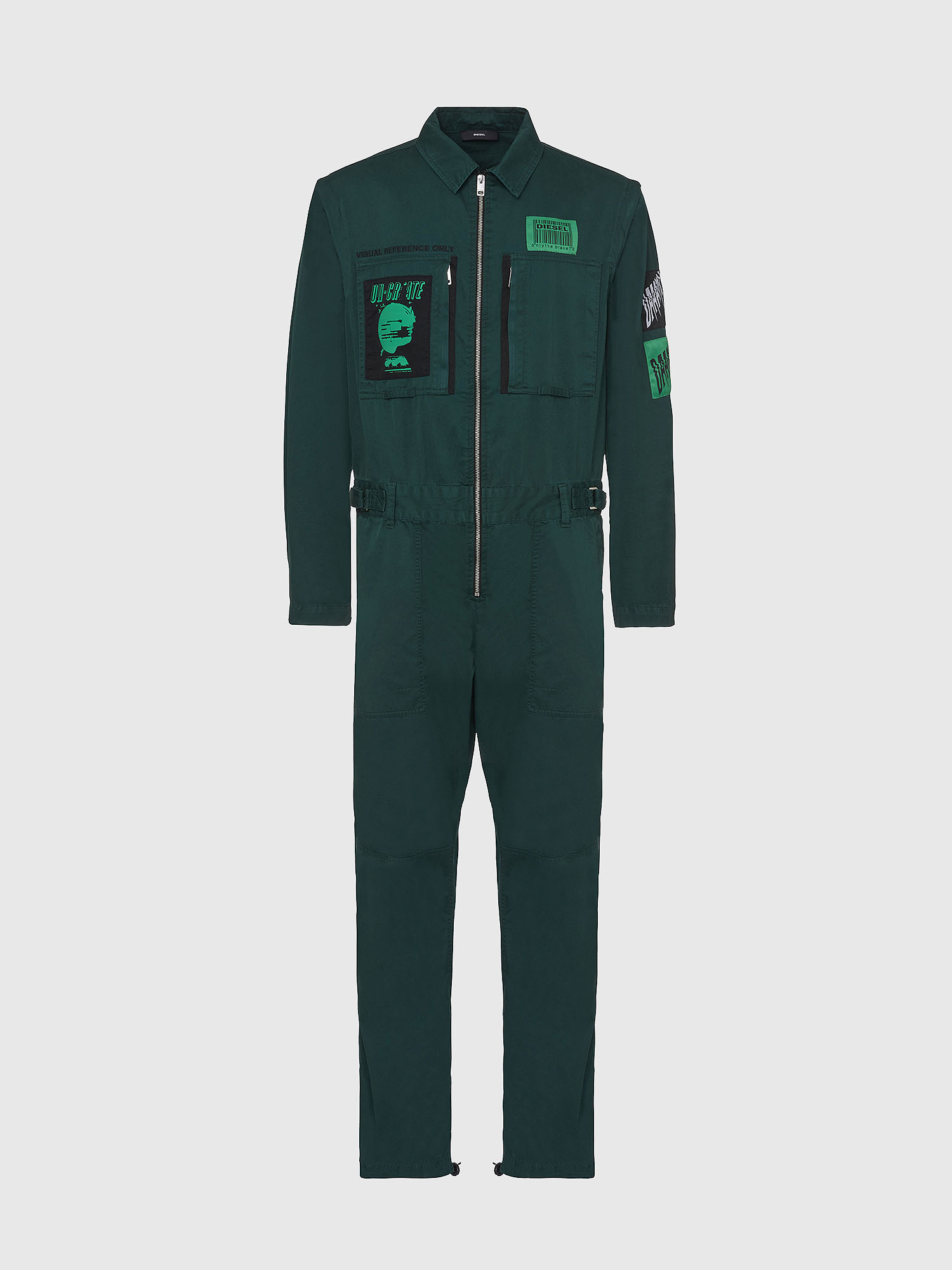Diesel - P-LARRY, Dark Green - Pants - Image 1