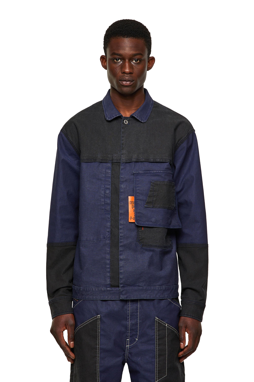 Diesel - D-FETZ-SP JOGGJEANS, Black/Blue - Denim Jackets - Image 1