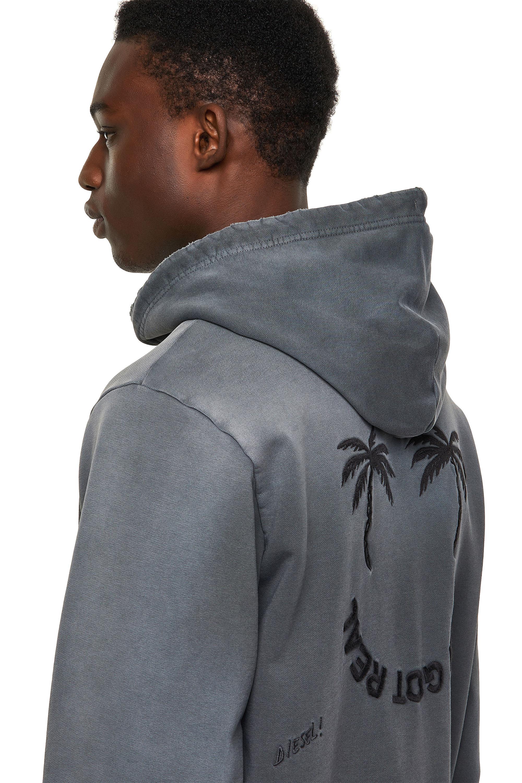 Diesel - S-GIRK-HOOD-B5, Dark grey - Sweaters - Image 3