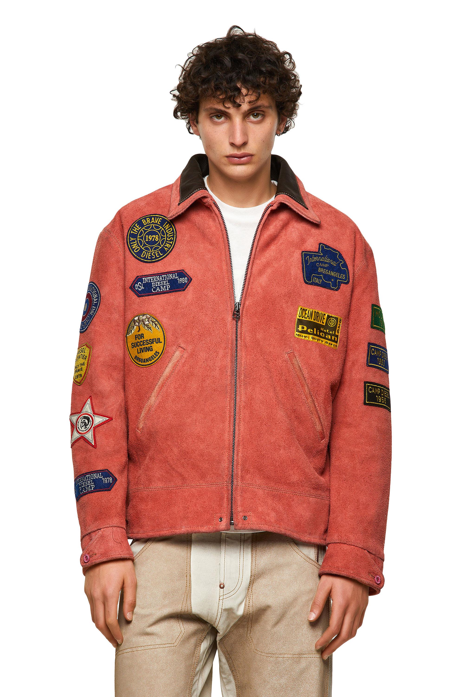 Diesel - DxD-3, Orange - Leather jackets - Image 1