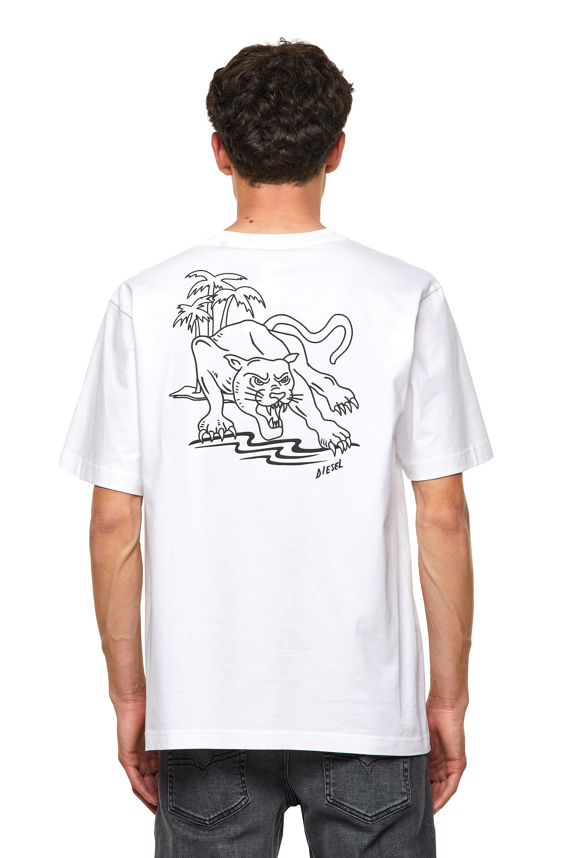 Diesel - T-TUBOLAR-B3, White - T-Shirts - Image 2