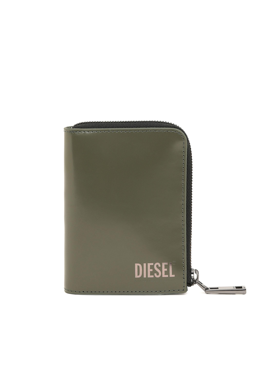 SHIPS TODAY Slim Wallet w Zipper Pocket 6 Card Slots /& Leather Flap
