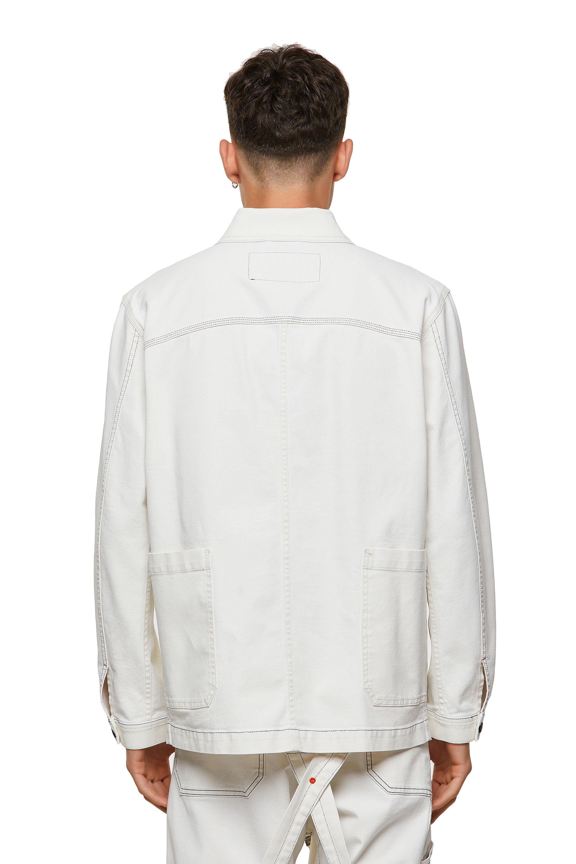 Diesel - D-ROLK-SP2, White - Denim Jackets - Image 2
