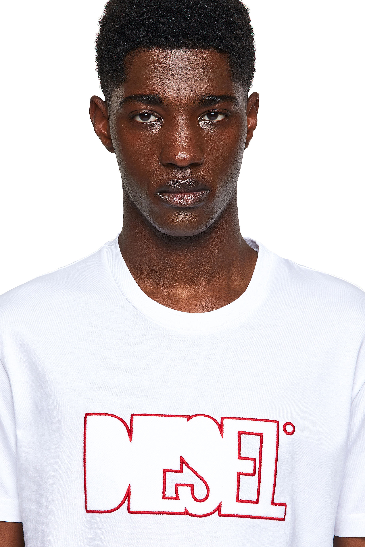 Diesel - T-DIEGOS-B8, Red/White - T-Shirts - Image 3