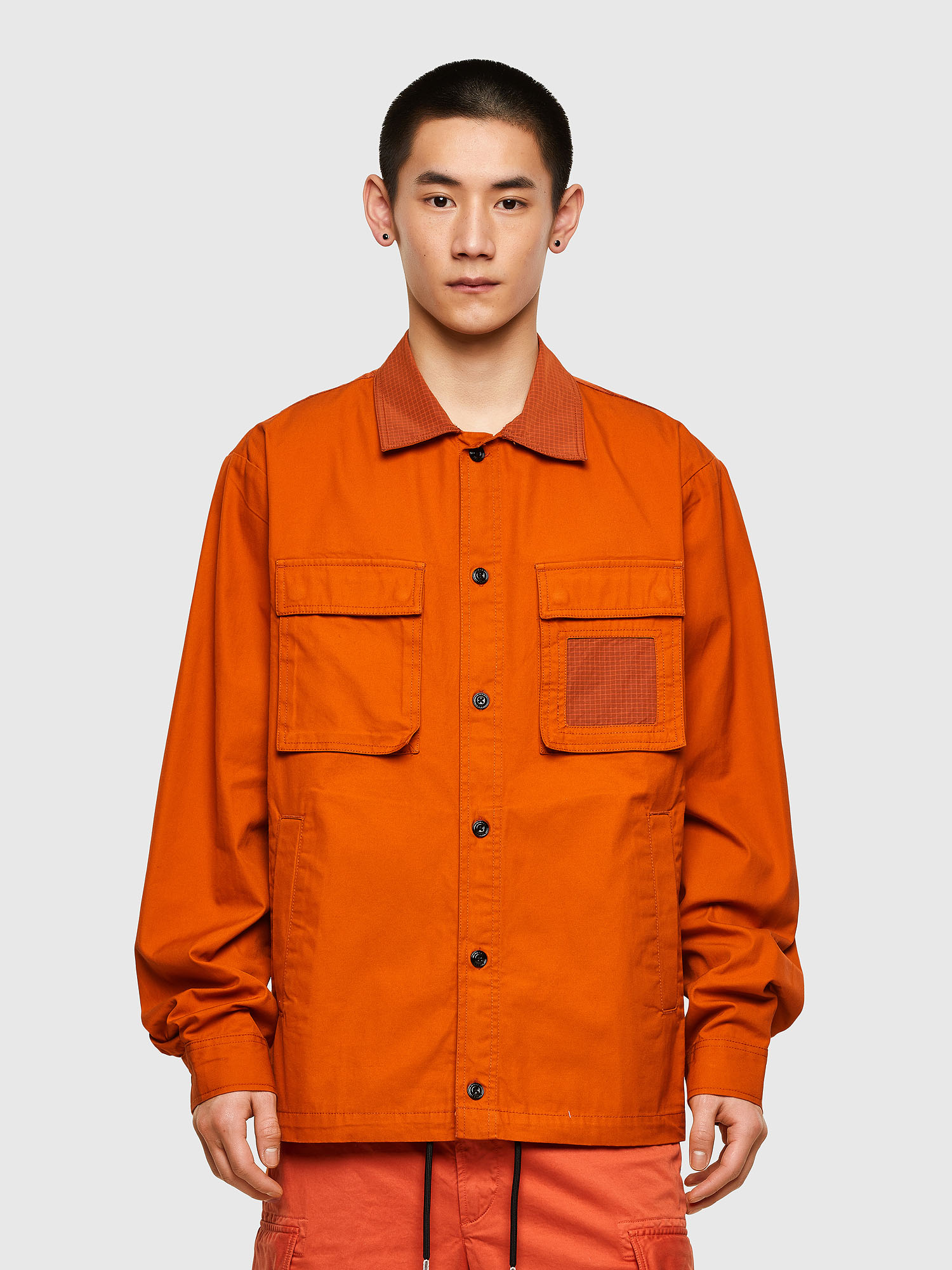 Diesel - S-GUNN-LS, Orange - Shirts - Image 1