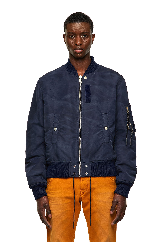 Diesel - J-MA-ONE-A, Dark Blue - Jackets - Image 1