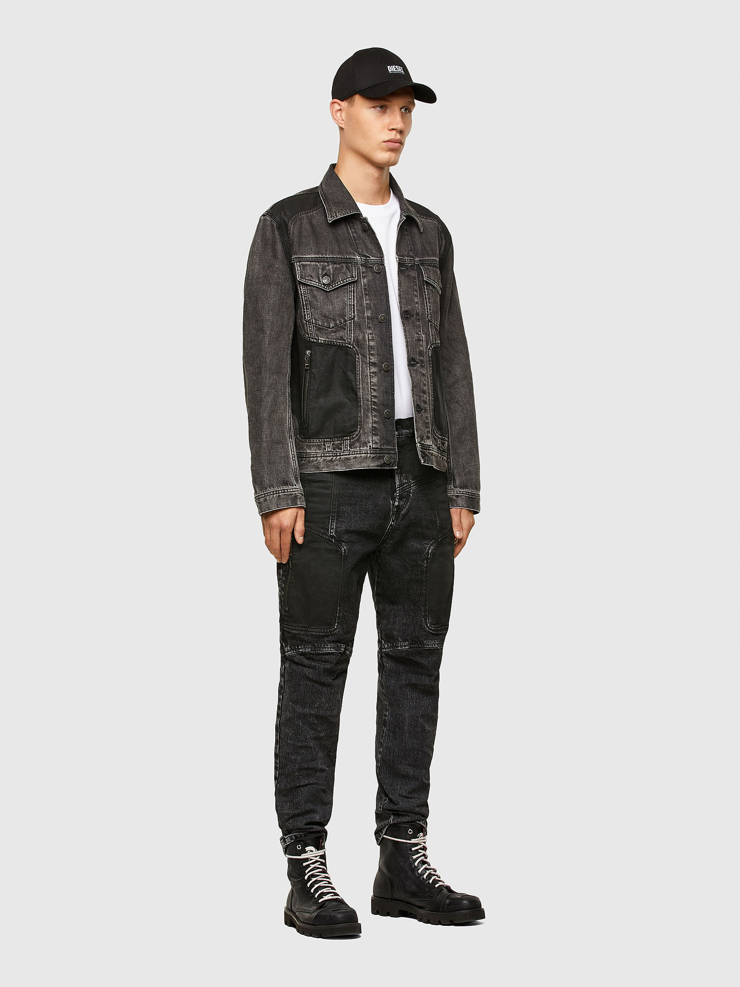 Diesel - NHILL-ROD-SP, Black - Denim Jackets - Image 6