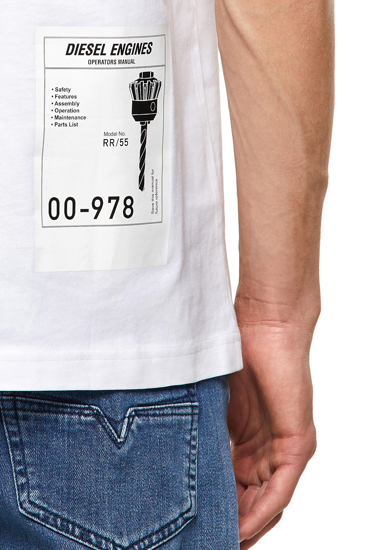 Diesel - T-JUST-B62, White - T-Shirts - Image 3