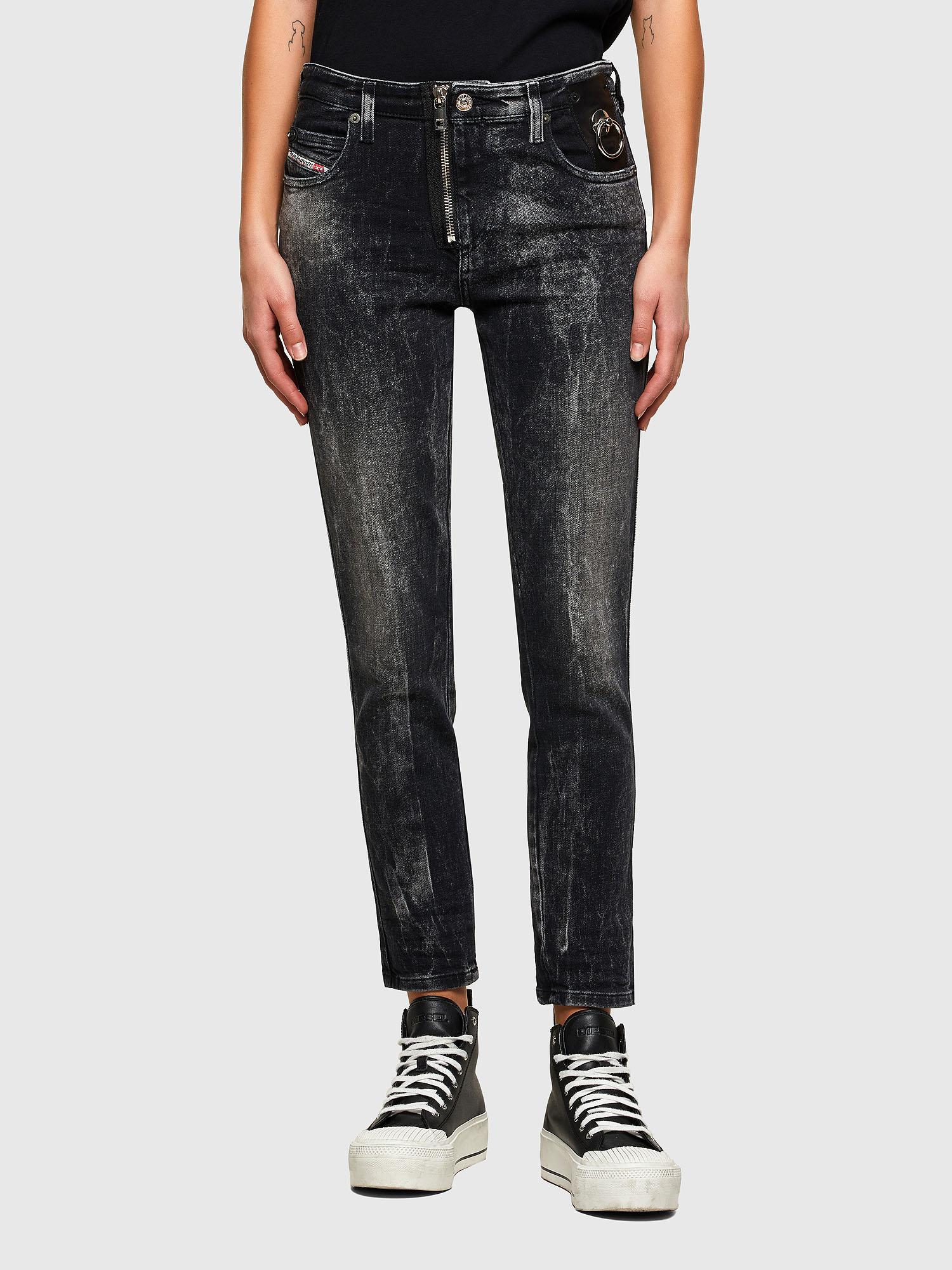 Diesel - Babhila 009PX, Black/Dark grey - Jeans - Image 1