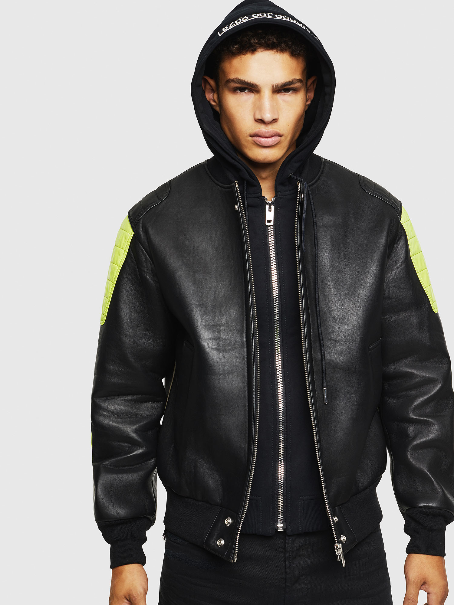 Diesel - L-BRANDO,  - Leather jackets - Image 1