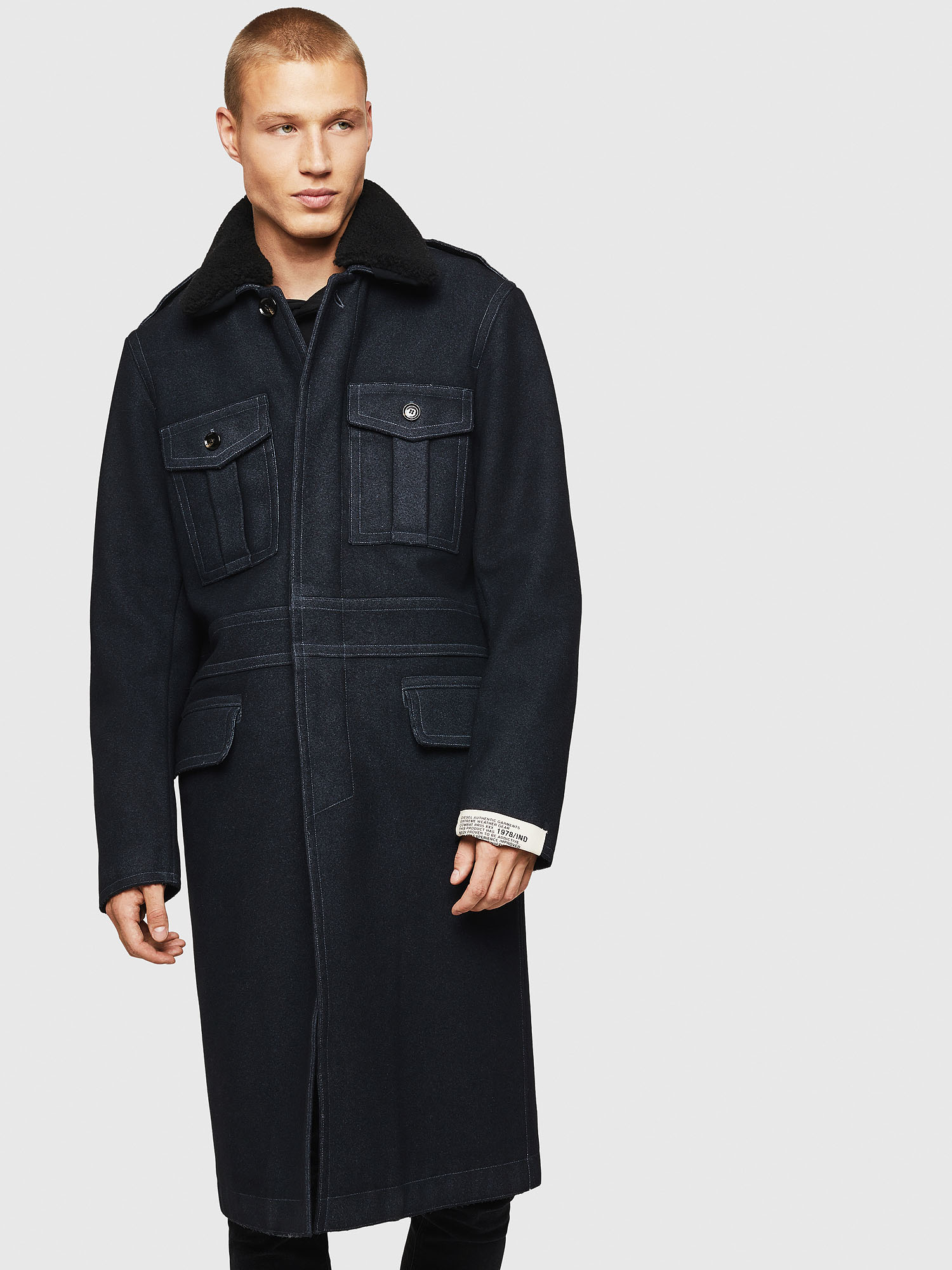 Diesel - W-TIMOTEV, Black - Winter Jackets - Image 1