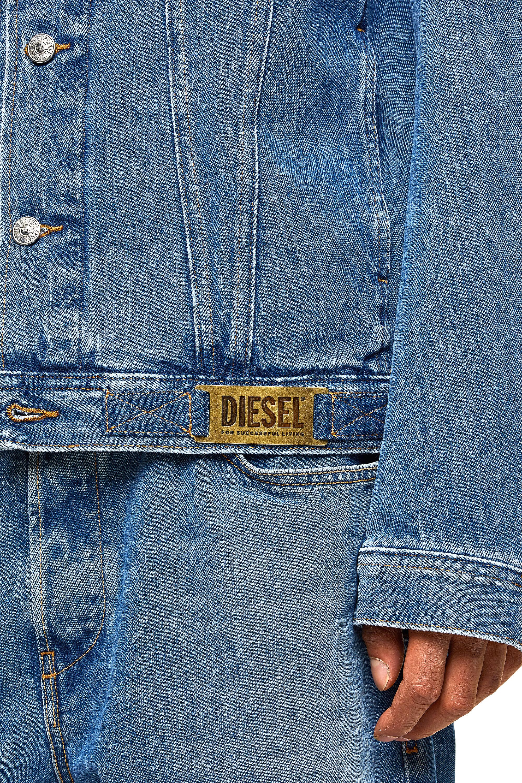 Diesel - NHILL-C1, Medium blue - Denim Jackets - Image 5