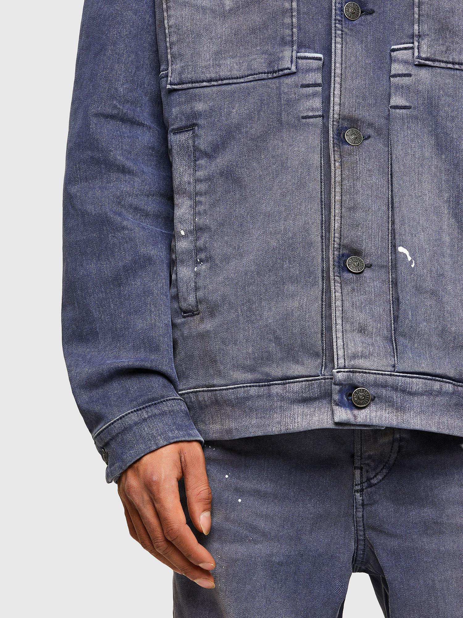 Diesel - D-ANTONY-SP, Medium blue - Denim Jackets - Image 5