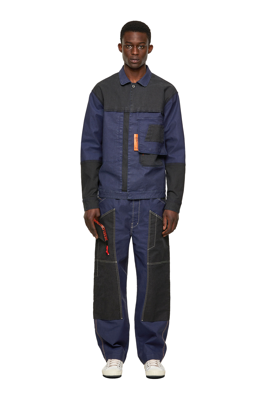 Diesel - D-FETZ-SP JOGGJEANS, Black/Blue - Denim Jackets - Image 5