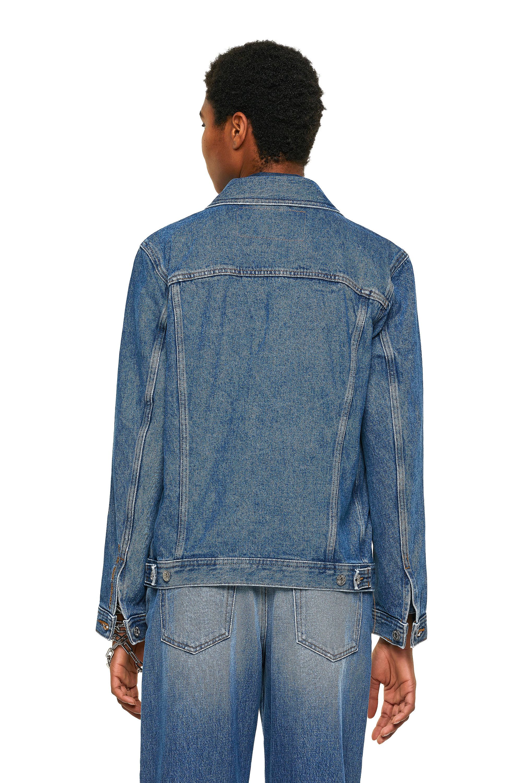Diesel - NHILL-C1, Medium blue - Denim Jackets - Image 4