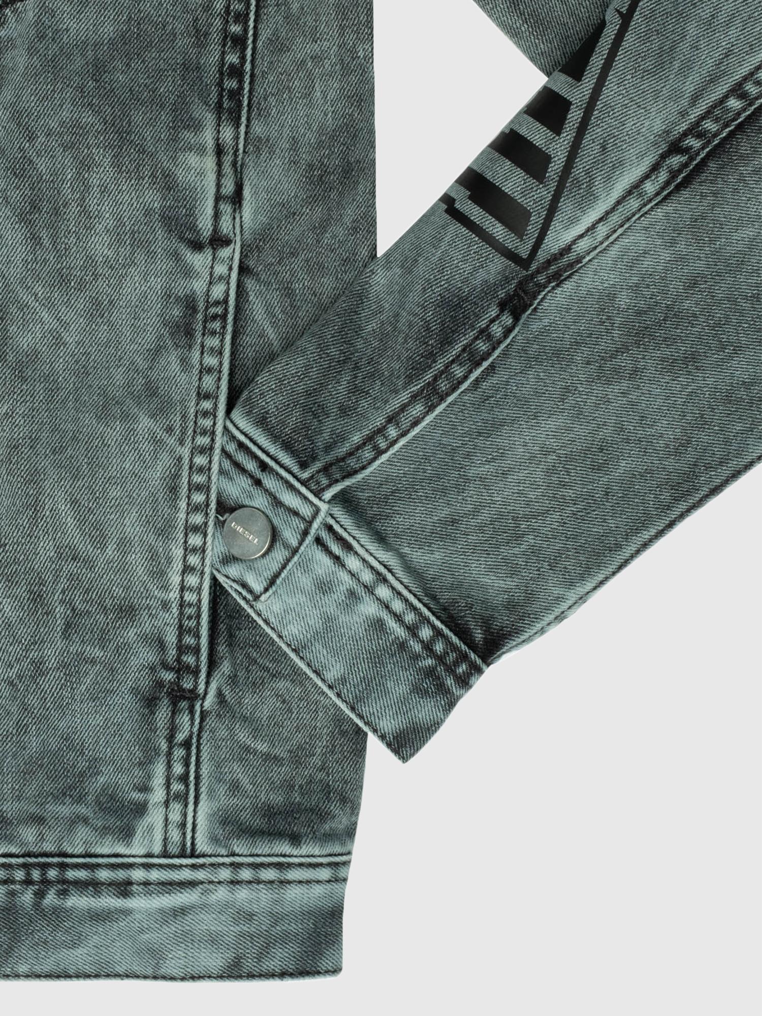 Diesel - US-NHILL-POP2, Black/Dark grey - Denim Jackets - Image 6