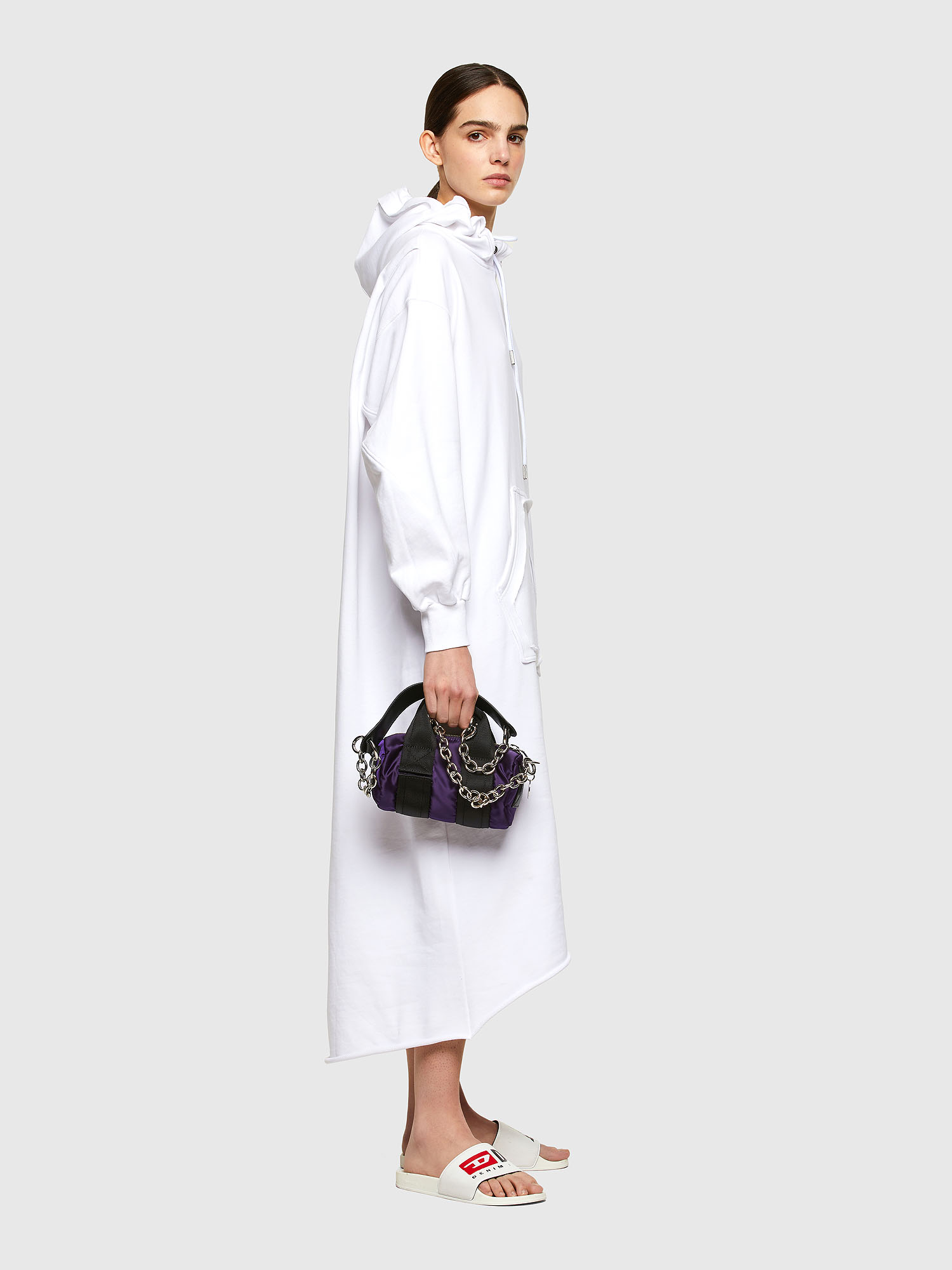 Diesel - D-ILSE-TWIST-RAW-COP, White - Dresses - Image 4