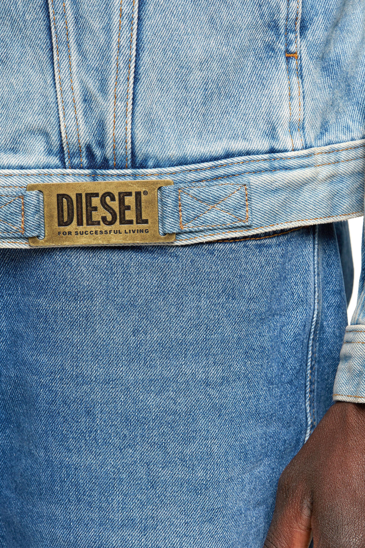 Diesel - NHILL-C1, Light Blue - Denim Jackets - Image 5