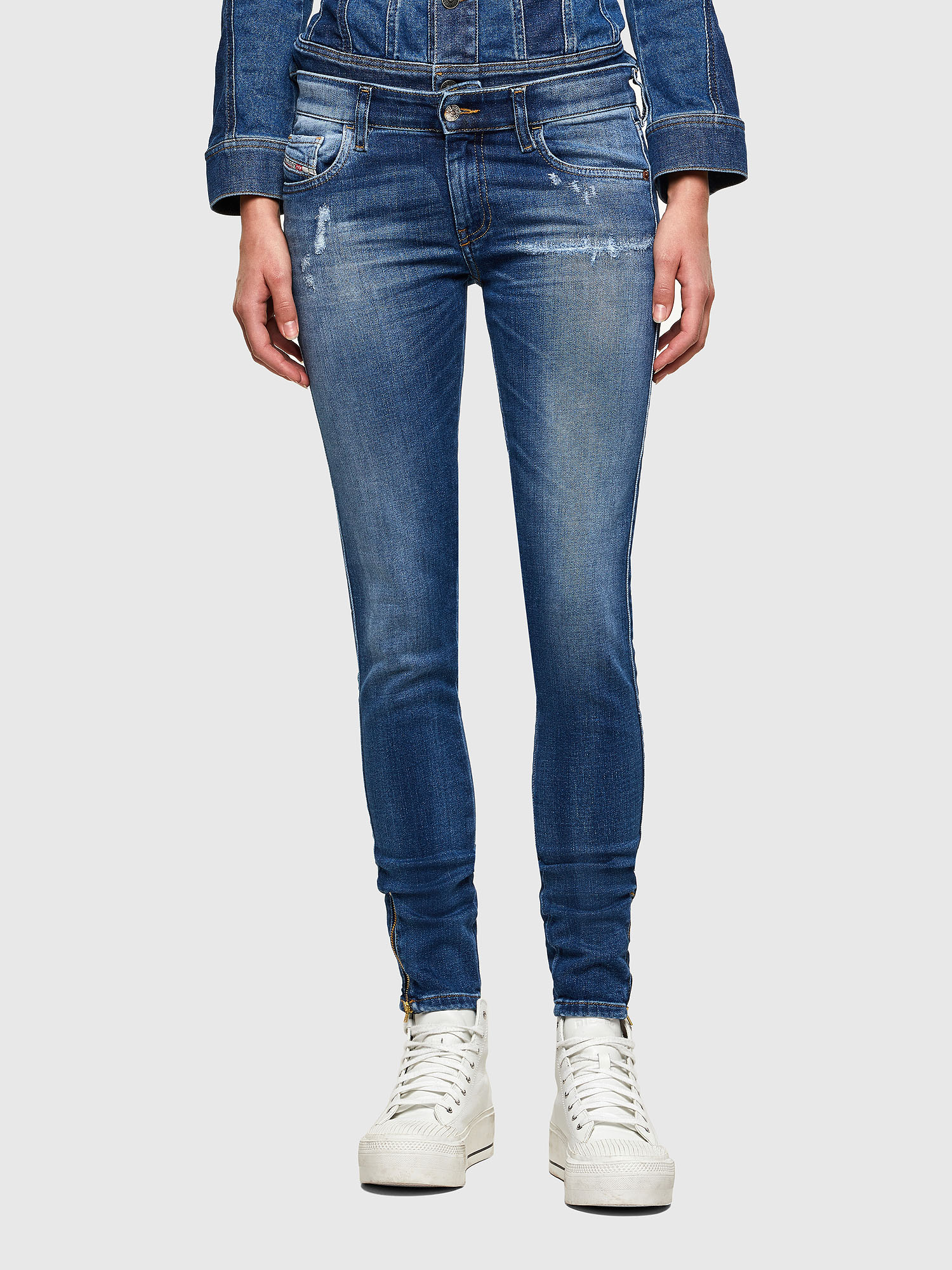 Diesel - Slandy Low 009PU, Medium blue - Jeans - Image 1