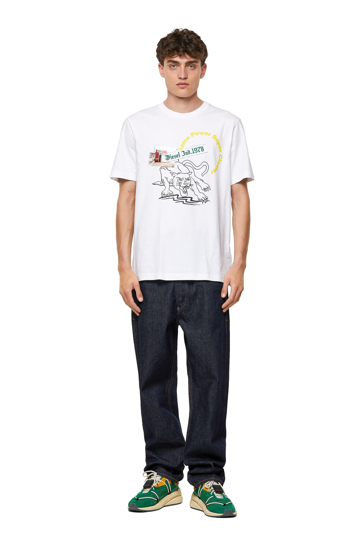 Diesel - T-JUST-B60, White - T-Shirts - Image 4