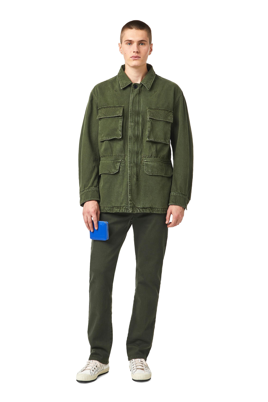 Diesel - D-NOVO-SP, Olive Green - Denim Jackets - Image 5